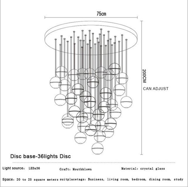 36 Heads Dia75cm Circle Base