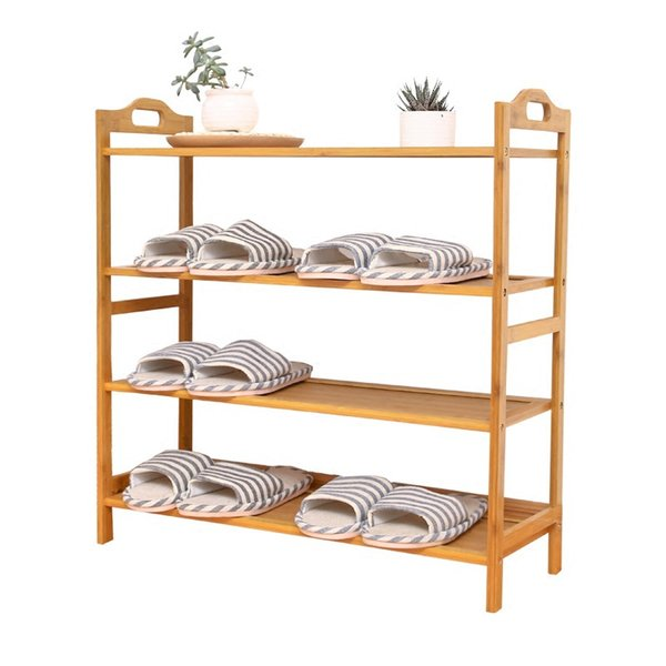 Multi Storey Home Furniture Shoe Cabinet Bamboo High Capacity Minimalism Original de madera maciza organizador Holder Organizador Rack Shelf 56qw5 jj