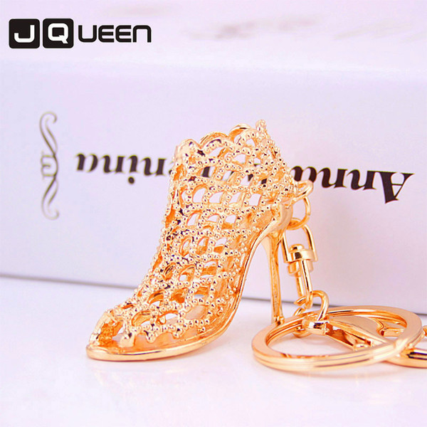 Fashion Design Alloy High-heeled Shoes Automobile Keychain Key Ring Chain Woman Package Hanging Drop Accessories