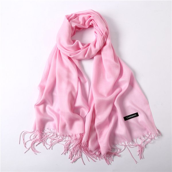 Hot 2018 summer scarf ladies shawl wrapped fashion solid color female headscarf shawl pashmina winter cashmere scarf scarf