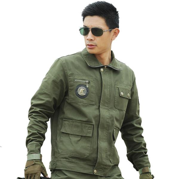 Großhandel Herren Taktische Jacke Armee Militär Outdoors Warmen Mantel Oberbekleidung Jaqueta Masculina Parka Männer Winter Baumwolle Gewaschen Mäntel