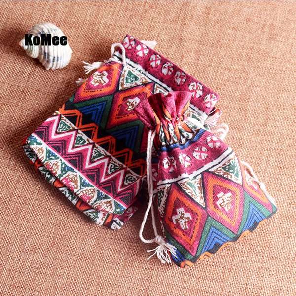 Hot Sale 50pcs/lot Small Cotton Bags 10x14cm Linen Drawstring Gift Bag Muslin Bracelet Jewelry Packaging Bags Pouches