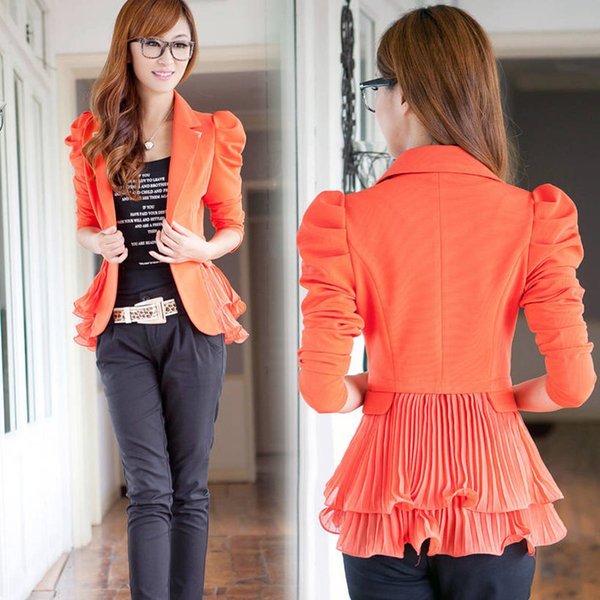Add fertilizer to increase size women's 200 pounds of fat mm Hitz Slim OL career suit jacket was thin female TB7423