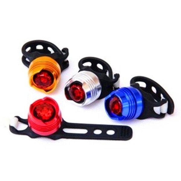 Bicicleta de la bicicleta luz de cola trasera LED Tailight a prueba de agua luces de flash rojas Ciclismo de advertencia de seguridad luces de la lámpara para bicicletas bicicleta