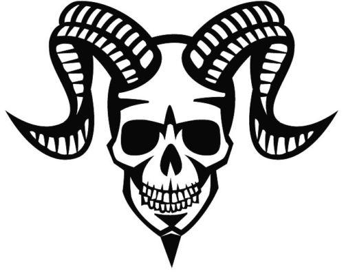 Devil Skull With Horn Car Sticker Vinyl Car Wrap Applique Personalized Decoration