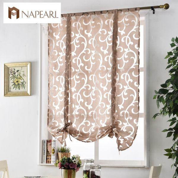 Küche kurzes Vorhang Fenster Behandlungen Vorhang Küche römischen Jalousien Jacquard Vorhänge Luxus europäischen Stil dekorativen Vorhang