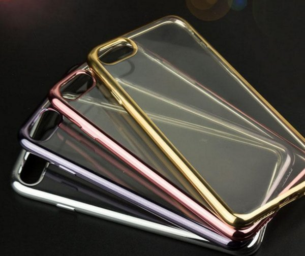 Ultra thin Electroplating Plating chrome Soft Clear TPU Case For iPhone X 6 6S 7 8 Plus Samsung S6 S7 Edge S8 S9 Note 5 8