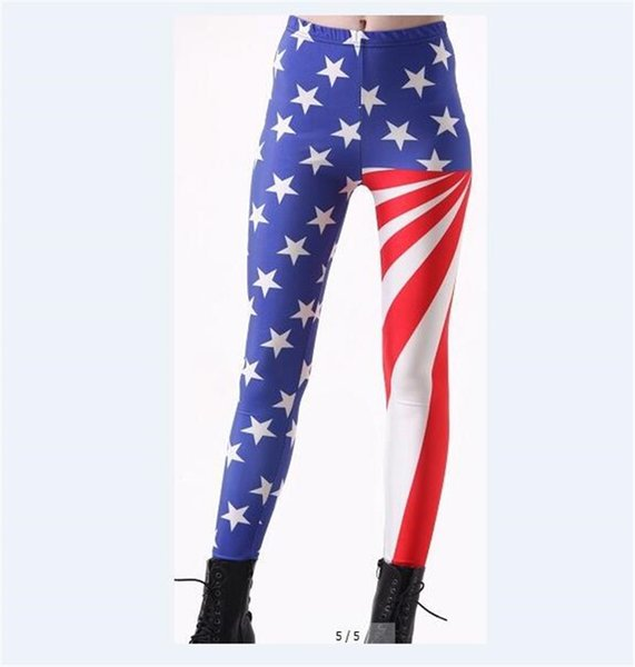 Wholesale Free Shipping Fashion Design Many Flags 3D Sublimation Printing Women Tight Leggings Elastic Pants Plus Size 4XL