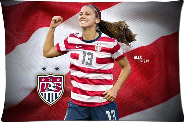 Alex Morgan Cool Pattern Custom Pillowcase Cover Two Side Picture Size 20x30 Inch