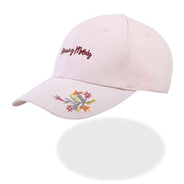 Gorra mujeres gorra de béisbol blanca rosada mujeres pequeñas flores gorras  de bordado snapback hat hombres 179b3a9b66a