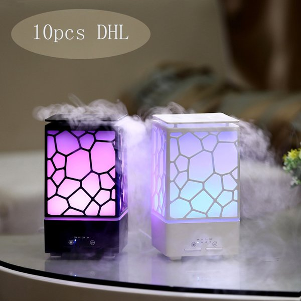 top popular New Air Humidifier Cool Mist Lamp 200ML Water Cube Essential Oil Aroma Diffuser with 7 Colors Changing LED Light USB Ultrasonic SPA 2020