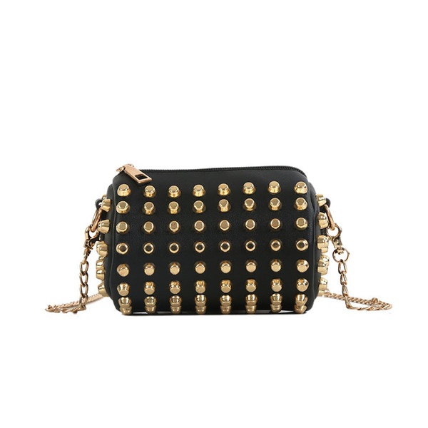 The new fashion childern's large capacity women bag with the trend of the trend contracted sipmle single shoulder willow chain minni bag