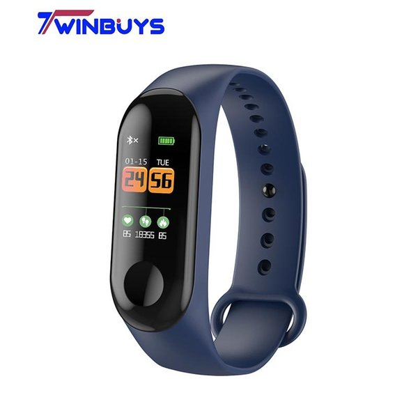 Twinbuys M3 0.96 Smart Bracelet Heart Rate Monitor Blood Pressure Blood Oxygen Fitness Tracker Smart Wristband with USB charging