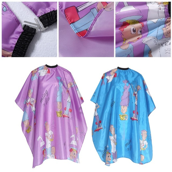 Professional Children Hair Cutting Cape Colorful Barber Cloth Kid Lover Character Salon Waterproof Hairdressing Gown Capes for baby boy girl