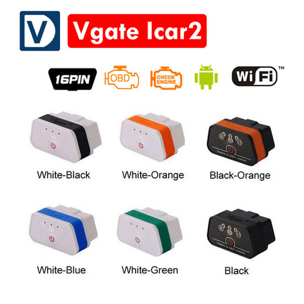 Newest Vgate icar 2 wifi proffesional Car Diagnostic tool elm 327 OBDII OBD2 scanner Vgate iCar2 WIFI ELM327 for Android/ IOS/PC