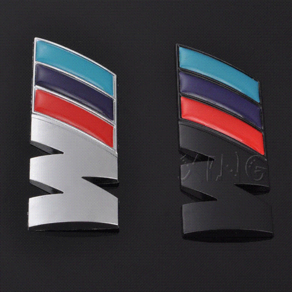 Exquisite Car Logo Sticker Auto Emblem Badge Decal For BMW M M3 M5 E46 E30 E34 X1 X3 X5 X6 Power Performance