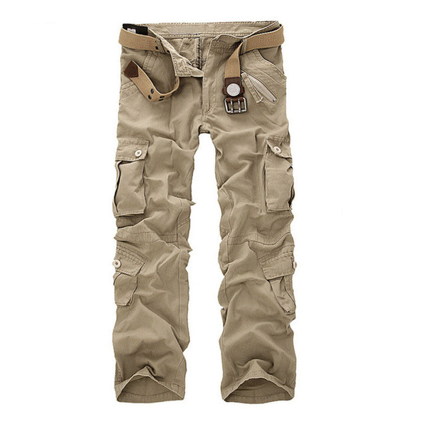 Men Outdoor Military Pants Loose Baggy Tactical Trouser Male Multi-pockets Pant