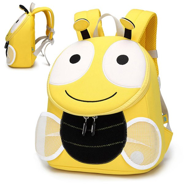 Cute Little Bee School Backpack for Children Cartoon Animal Shape Baby Girl Schoolbag Kids School Bags Mochila Escolar