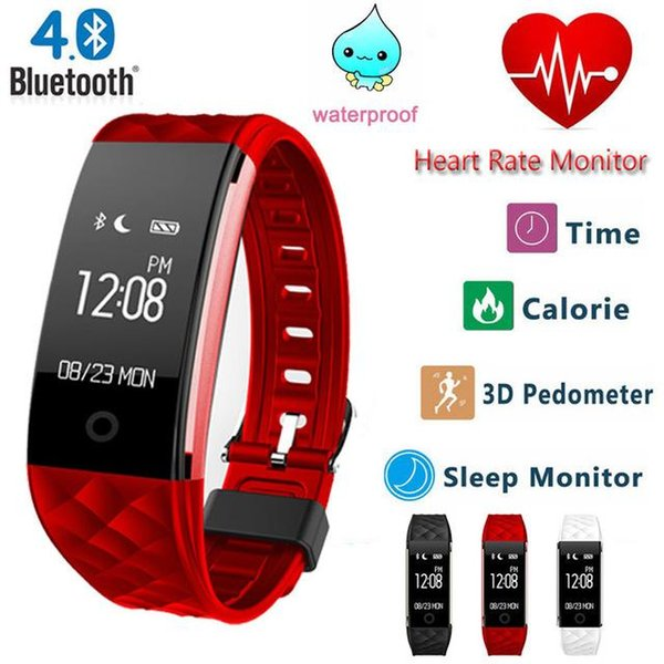 S2 Bluetooth 4.0 Smart Band Wristband Heart Rate Monitor OLED Fitness Step Bracelet For Android IOS Phone pk fitbits MIBAND 3