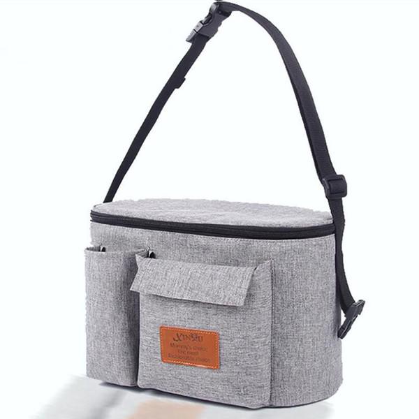 2018 de gran capacidad bolsa de cochecito de bebé organizador de almacenamiento mamá viaje colgando cochecito cochecito momia bolsas de pañales cochecito accesorios