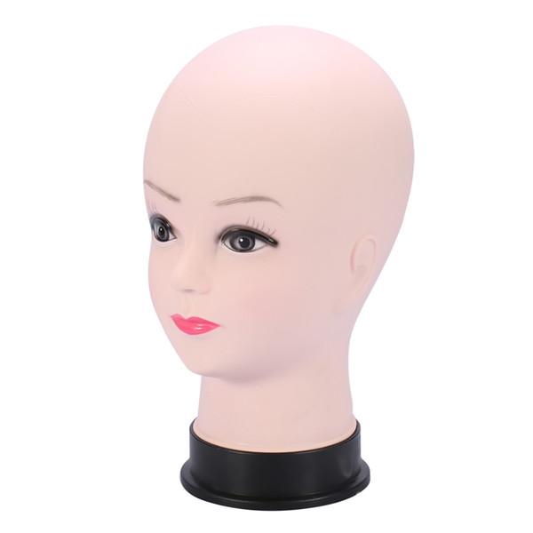 Cabeza de maniquí de maniquí femenino Entrenamiento Cabeza de maquillaje Sombrero Pantalla Práctica Maniquí Modelo Peluca Soporte Maniquí