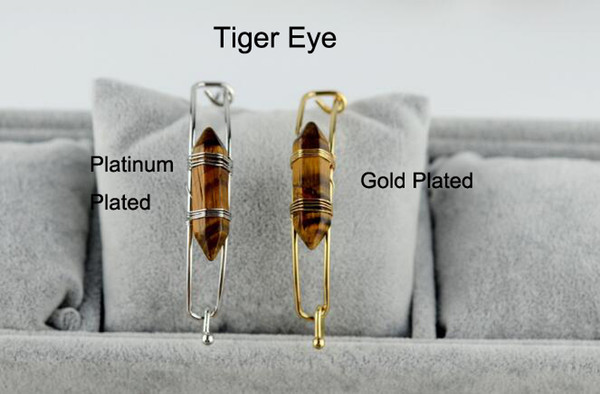 Tiger Eye With Gold Plated