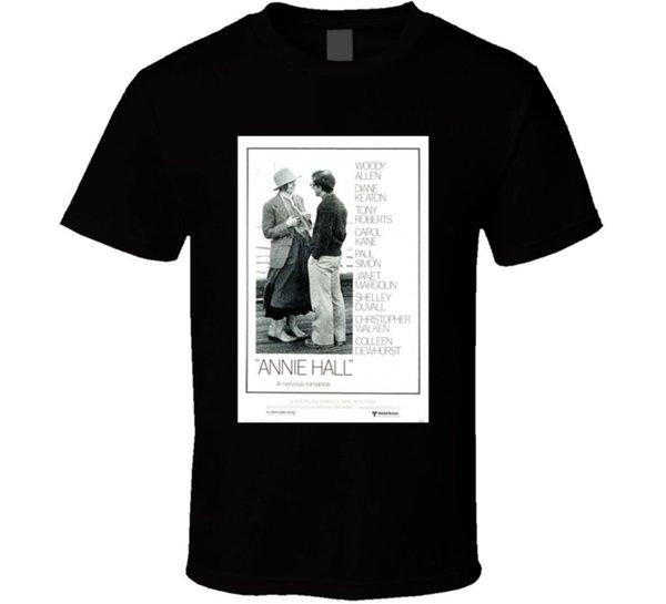 Annie Hall Cool dos anos 70 Comédia Do Vintage Clássico Movie Poster Fan T Shirt