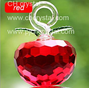 50mm 1.9inch New Year Chirstmas Tree Hanging Cut White crystal Glass Apple Ornaments decoration 2017 Navidad Home natal decor