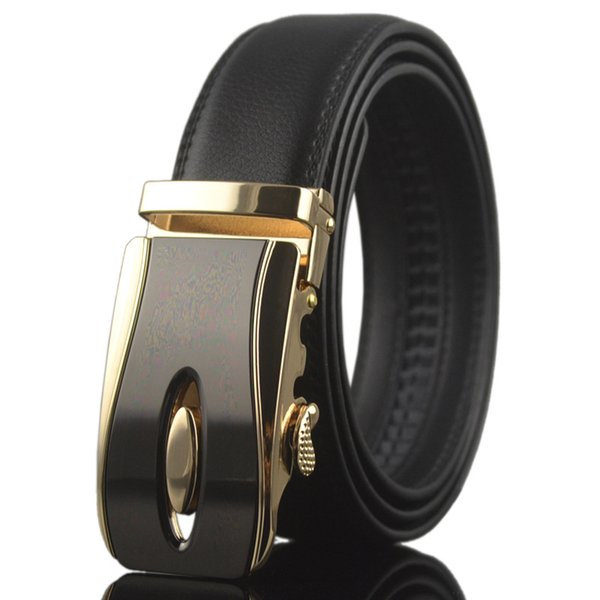 KAWEIDA new alloy Automatic buckle leather belt men genuine leather brand business belt for male designer belts high quality