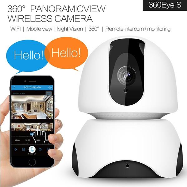Ev WIFI Mini iki yönlü ses CCTV Kamera H.264 IP P2P HD Video 2MP 1080 P Gece Görüş 10 m Rotasyon 360 Derece 3D Navigasyon