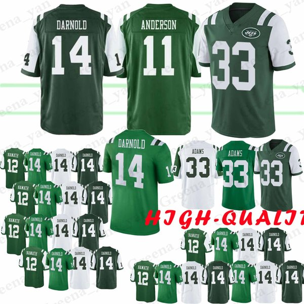 cheap for discount cde0a daeeb 2019 14 Sam Darnold New 11 Robby Anderson York Jets Jersey 33 Jamal Adams  12 Joe Namath Jersey 2019 New Top Quality From Sports_grass, $23.26   ...