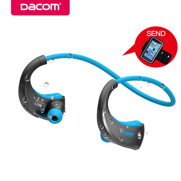 DACOM G06 Kablosuz Bluetooth Kulaklıklar Spor Boyun Bandı Kulaklık IPX5 Su Geçirmez Stereo Kulaklık Kulaklık iPhone 5 6 7 Samsung