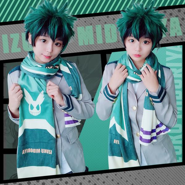 2019 Japan Anime My Hero Academia Izuku Midoriya Todoroki Shoto Bakugou Katsuki Cosplay Unisex Long Soft Scarf From Riddle Star 18 16 Dhgate Com