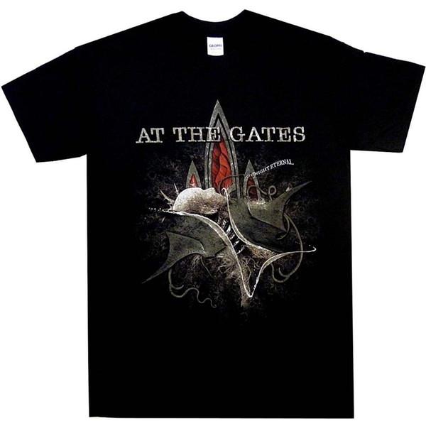 Nos Portões Da Noite Eterna S M L XL Official Death Metal Tshirt T-shirt NewFunny Tripulação Pescoço-Manga Curta T-shirt