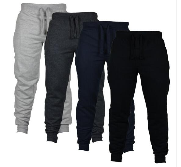 Casual Sport Jogger Pantalon Chino Skinny Joggers Solide Couleur Pantalon De Pantalon Respirant Taille Élastique Mode Hommes Long Pantalon Vêtements