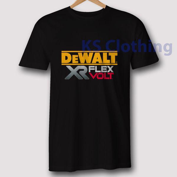 Dewalt XR Flex Volt Black T-Shirt Tool Inspired S to 3XL Cool Casual pride t shirt men Unisex New Fashion tshirt Loose