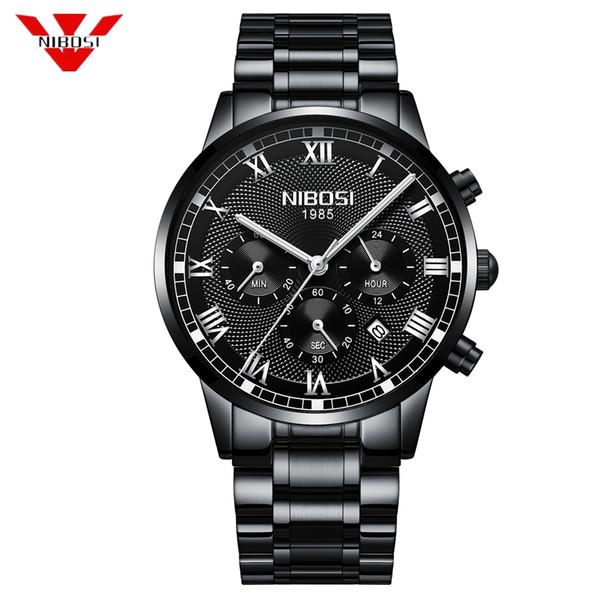 68adf958fb7d NIBOSI Para Hombre Relojes de Primeras Marcas de Lujo de Cuarzo Dorado Reloj  de Los Hombres