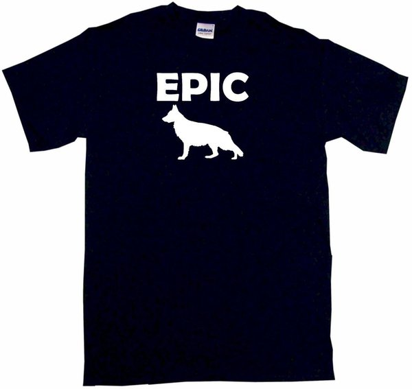 Epic German Shepherd Dog Silhouette Mens Tee Shirt Pick Size Color Small Funny free shipping Unisex Casual tee gift