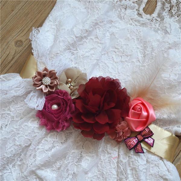 Bride Flowers, Belts, Bride, Pregnant Women, Children's Gifts, Waist Seals