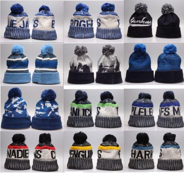 top popular Top quality winter Beanie Knitted Hats Sport Teams baseball football basketball beanies caps Women Men popular fashion winter caps 2019