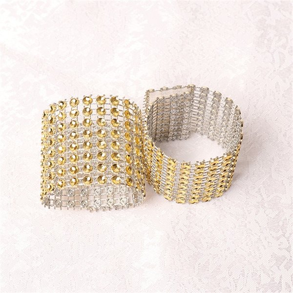 Plasti Cnapkin Ring Hollow Out 8 Row Net Drill Napkin Rings Hotel Pendulum Table Wedding Festival Decorations 0 4ls cc