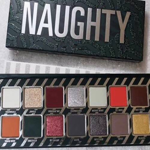 New co metic naughty or nice eye hadow palette for chri tma gift 14color eye hadow palette choo e your palette dhl hipping