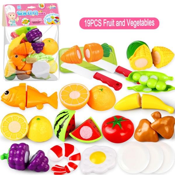 25Pc / set En Plastique Cuisine Alimentaire Fruits Légumes Légumes Jouets Enfants Pretend Play Éducatifs Cuisine Jouets Cuire Cosplay Enfants