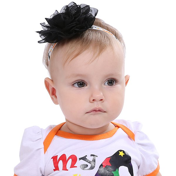 2018 Europe and the United States hot explosion models Halloween baby hair band children elastic flower head rope mesh headband decoration