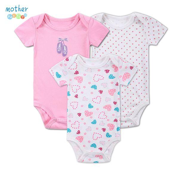 3 Teile / los Baby Footies 0-12Months Kurzarm Baby Infant Cartoon Recien Nacido Mädchen foofy Kleidung Neugeborenen Kleidung