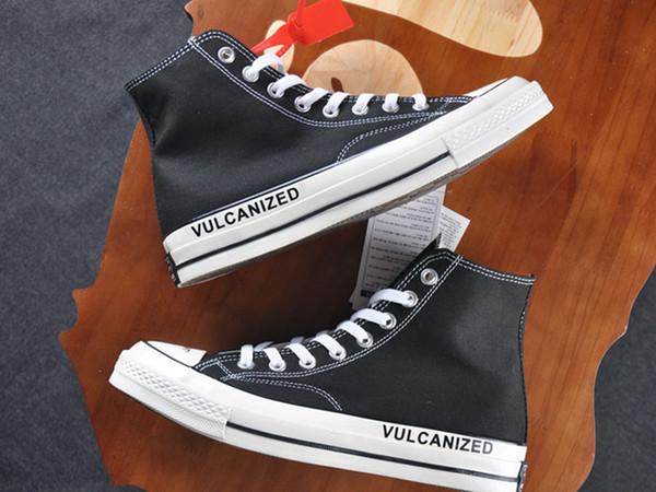 Chuck 1970s Canvas Shoes 2018 Virgil Deisgner Ten Black White Taylor Fashion Streets Look Unisex Casual Shoes With Shoebox