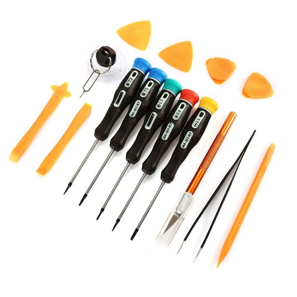 JAKEMY 15 in 1 Mobile Phone Repair Tools Kit Opening Tool Screwdriver Set for iPhone iPad Cell Phone Hand Tools Set Free Shipping VB