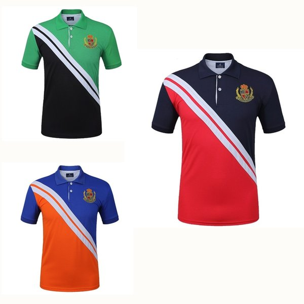 Fannai Men's Golf Shirt Short-sleeve Golf Polo Tshirt Fitness Running Jogging outdoor sportswear Trainning T Shirts