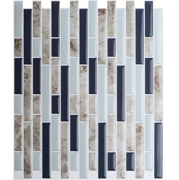 Cheap 3d wall stickers Peel and Stick Wall Tiles 10.5'' x 10'' Kitchen Backsplash Tile Resin 3D Wall Sticker 10 Tiles/ pack