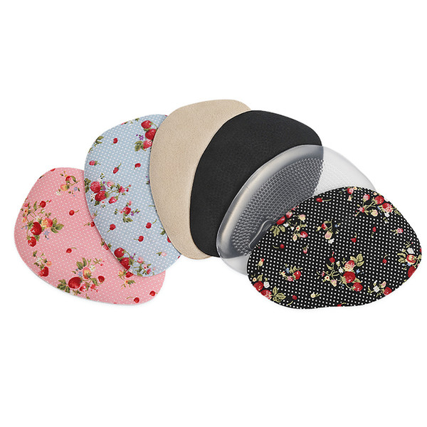 Передней части стопы колодки женская кожаная обувь половина двор pad цветочные печатных гель нескользящей утолщенной амортизирующие массаж дышащий пятки подушка